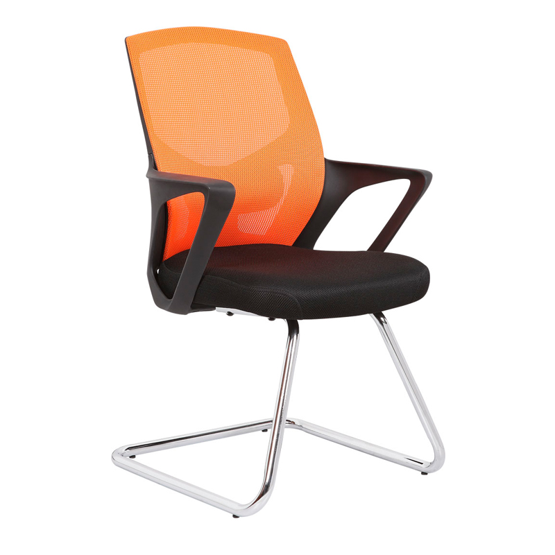 KB-2025C Mid Back Swivel Meeting Room Ergonomic Mesh Chair With Armrest